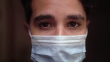 man with a surgical mask