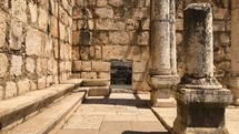 Entrance to the Capernaum Synagogue that the roman centurion built for the Jewish people.