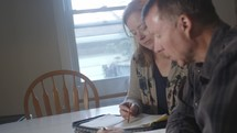 couple reading scripture together