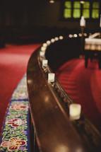 A prayer bench