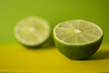 Lime cut in half.