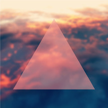 triangle and sky background