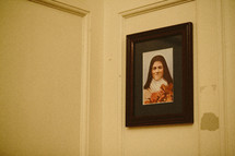 St. Therese painting in a Catholic church.