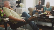 discussing scripture at a Bible study