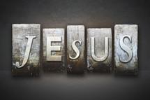 word Jesus letter stamps
