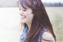 a joyful woman