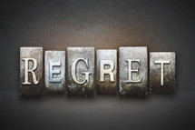 the word regret