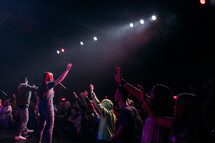musicians on stage at a youth worship service