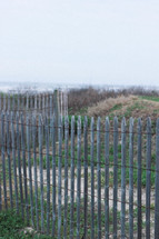fence on a shore