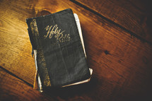 an old worn Bible