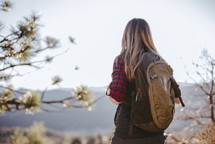 a woman hiking outdoors