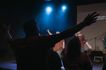 musicians on stage performing worship music