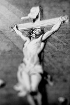 A depiction of Jesus crucified on the cross