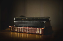 old stacked Bibles