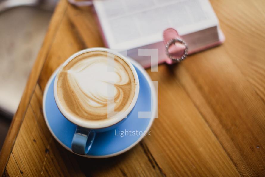 heart shape in a cappuccino
