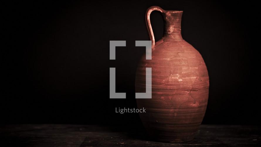 Replica of 1st century jug of wine