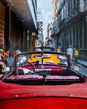 vintage cars on the streets of Cuba