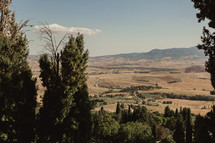 view of Italian farmland