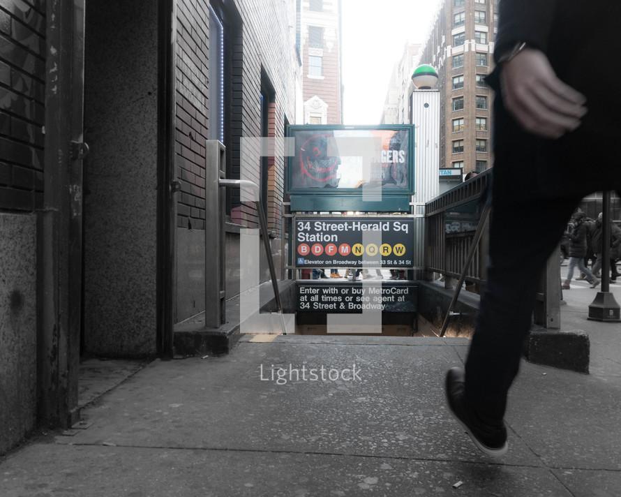 subway station street entrance