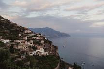 homes along a mountainous coastline in Italy