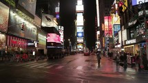 Time-lapse of Times Square at night