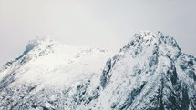 jagged winter mountains