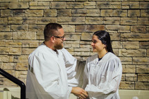 blessings during a baptism