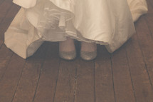 a brides feet