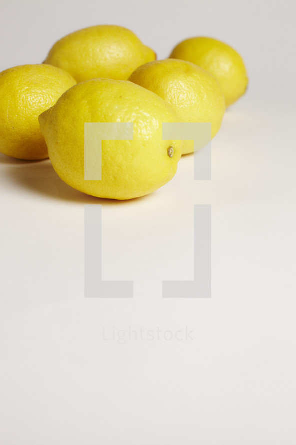 A group of lemons isolated on white