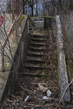 old deteriorating stairs outdoors
