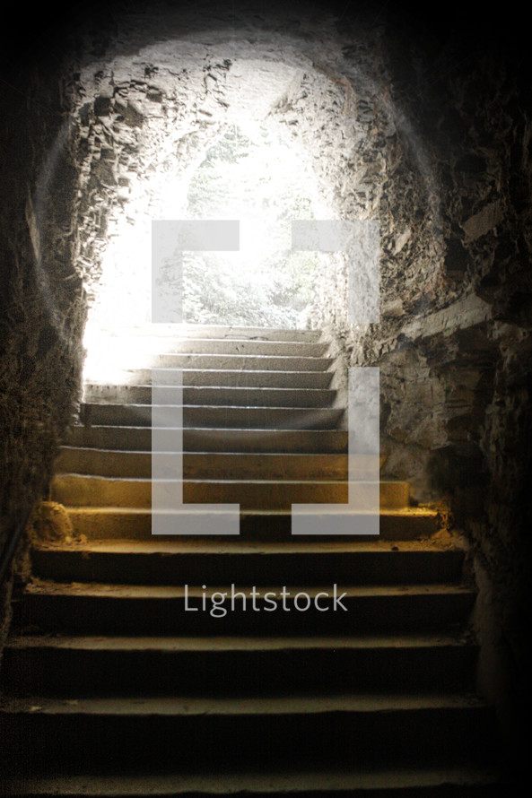 He is Risen, light in a cave