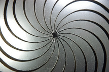 swirl, metal, silver, abstract, hypnotic, spinning, twirl, radiating