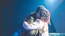 hugs on stage