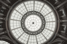skylights at the top of a dome