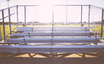 bleachers outdoors at a sports field