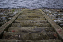stone steps leading to the water