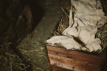 The manger of Jesus' birth in side the stable