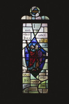 A stain-glassed window of Psalm 122:1