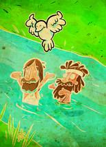 Jesus baptized