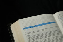 Open BIble in the book of Malachi