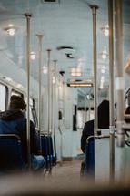 passengers on a subway