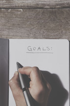 Making a goals list