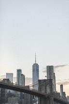 bridge in New York City cityscape