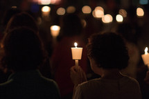 a candlelight worship service
