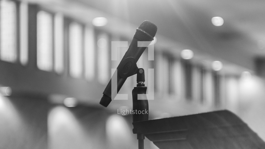 microphone in a church