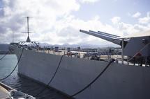 war ship at Pearl Harbor