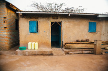 open door to a house in Africa