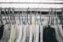 hangers on a rack