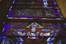 Stained church glass window