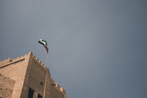 flag on a fortress